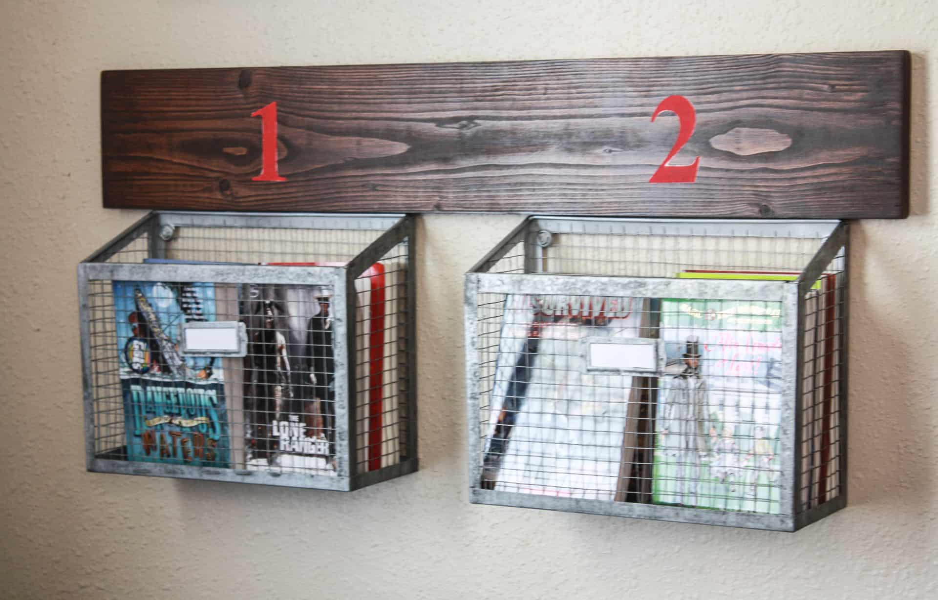 DIY Wall Hanging Storage Baskets