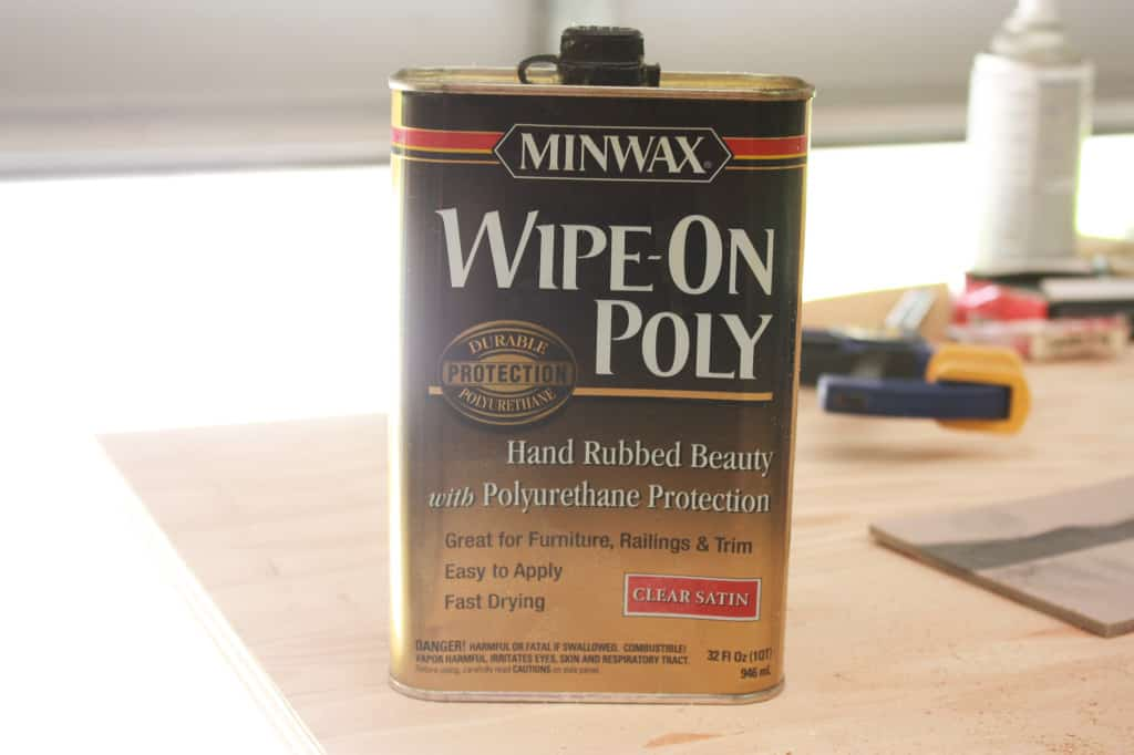 Poly sealant used on the DIY console table