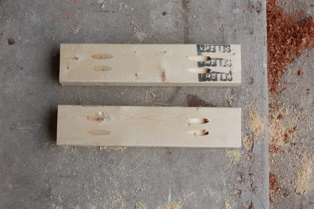 DIY Console Table - small boards to build the table