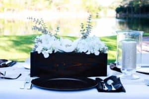 DIY wood planter box for table decor