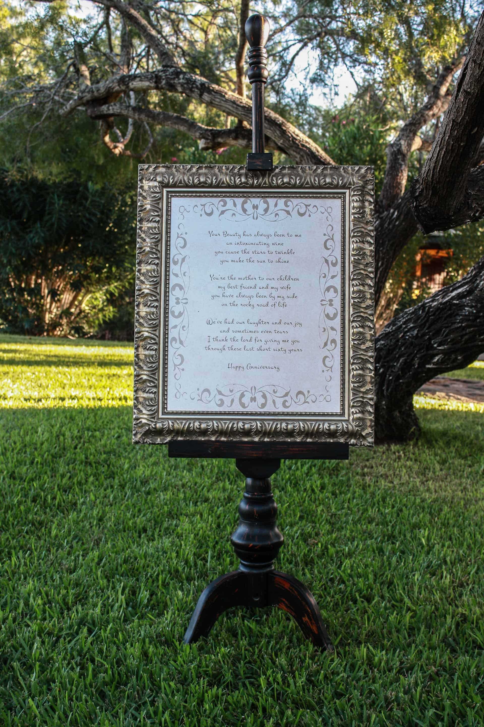 DIY Wooden boxes for table decor - my grandpa's poem