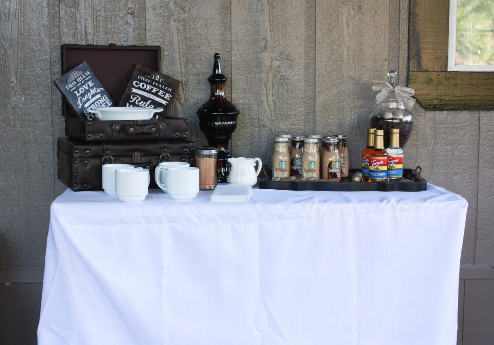 Coffee bar at the anniversary party
