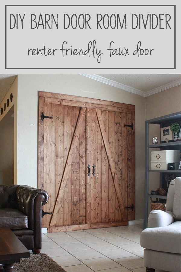 DIY Barn Door Room Divider