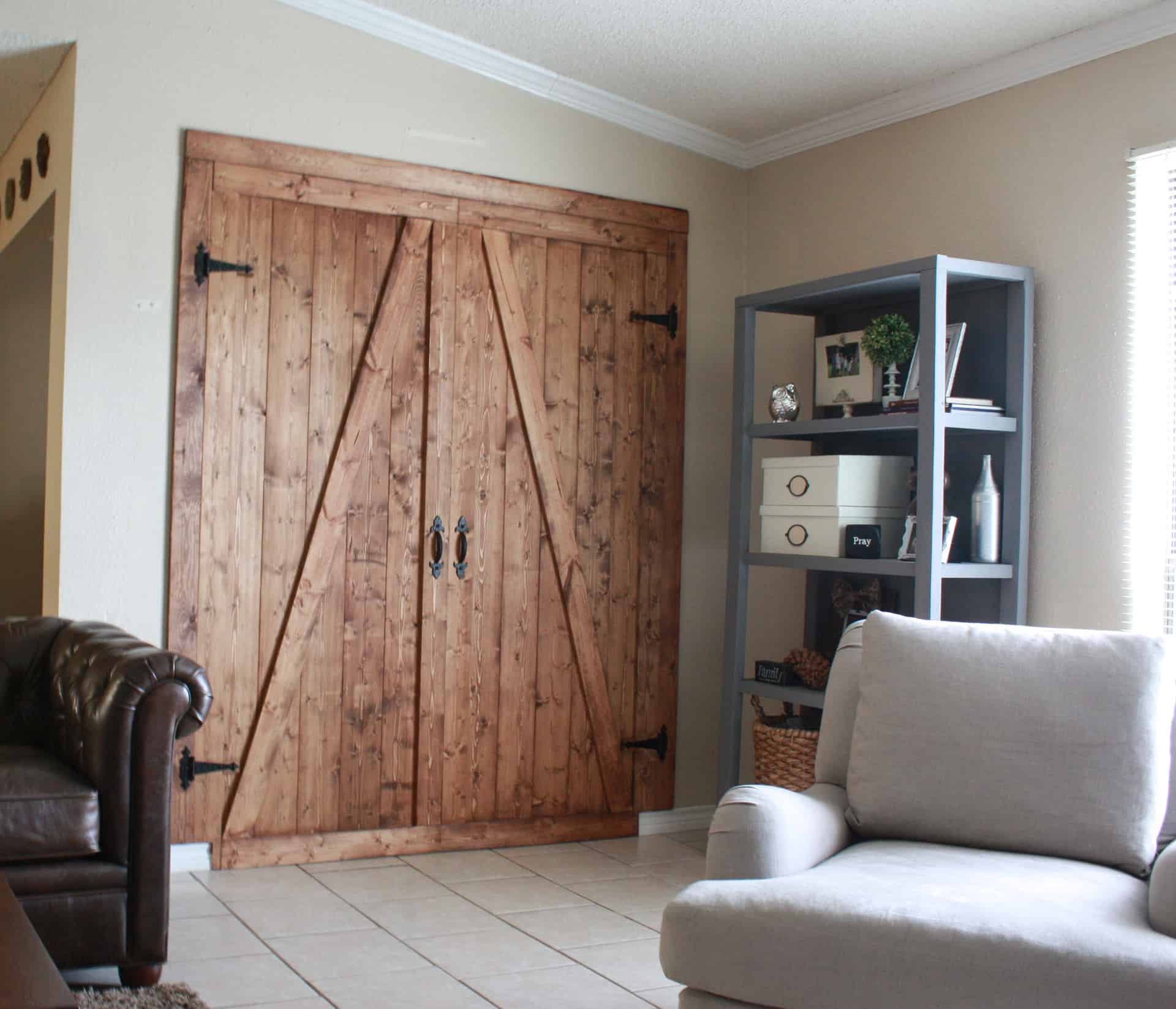 DIY Faux Barn Door Room Divider