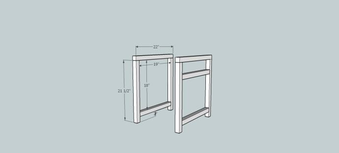 print front & back frame dim