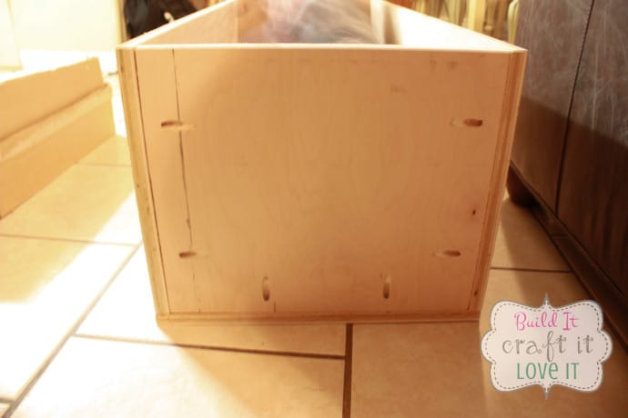 PB Knockoff Upholstered Storage Bench Tutorial - Build It Craft It Love It