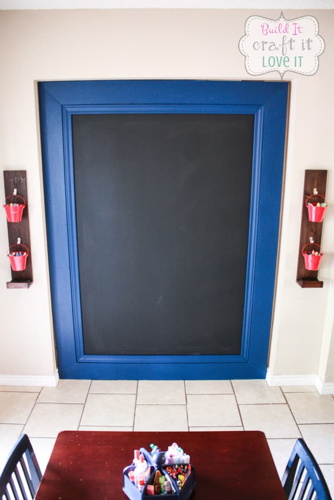 DIY Framed Chalkboard Wall - Build It Craft It Love It