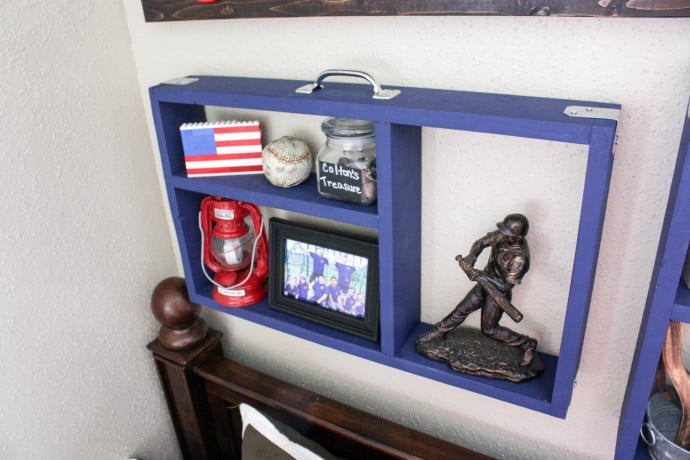 PBteen Inspired Suitcase Wall Shelves