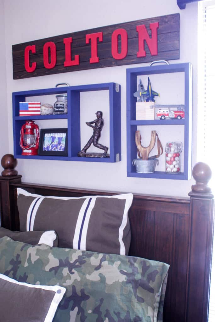 PB teen Inspired Suitcase Wall Shelves