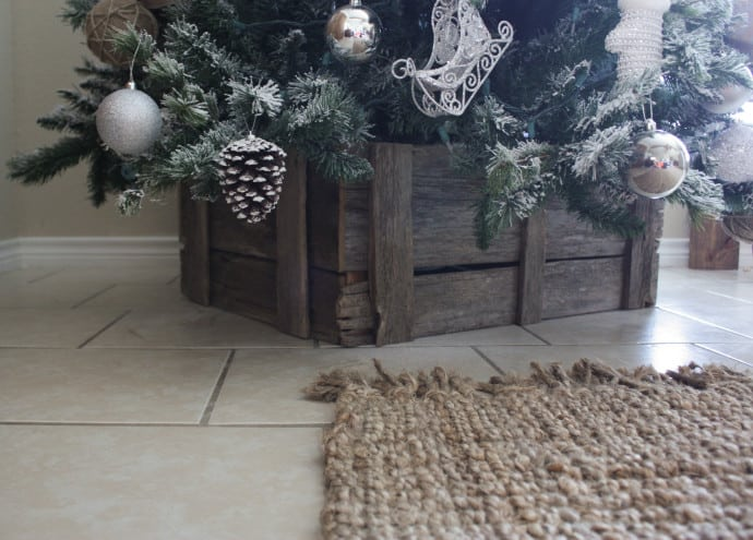 DIY Christmas Tree Crate Stand