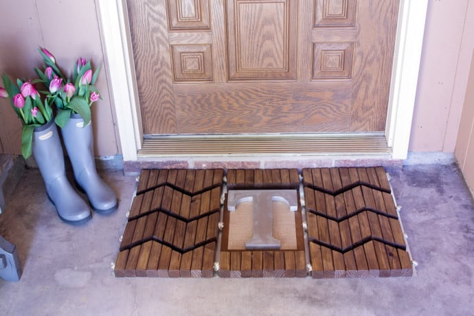 Home Depot's Workshop Virtual Party- DIY Door Mat