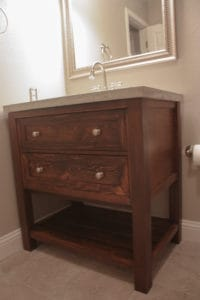DIY Bathroom Vanity - Pottery Barn Knockoff