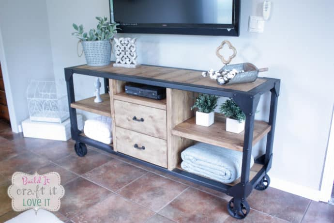 DIY Industrial Media Console