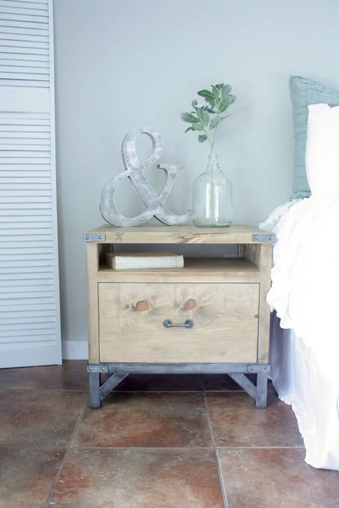 diy industrial nightstand build it craft it love it
