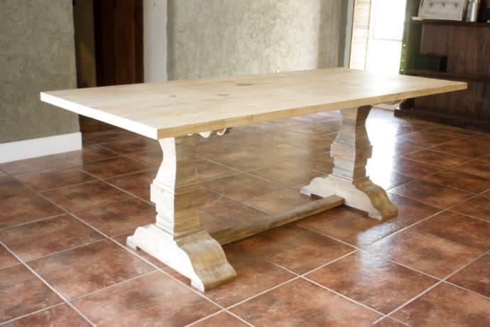 Restoration Hardware Inspired Trestle Dining Table The Inspired Workshop
