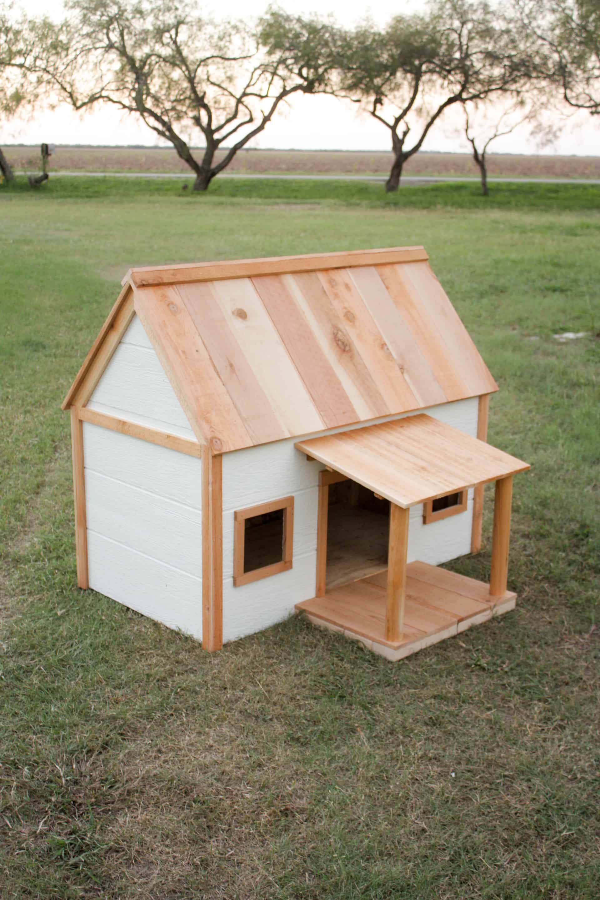 DIY Doghouse with Porch