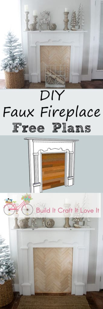 DIY Faux Fireplace - Build It Craft It Love It
