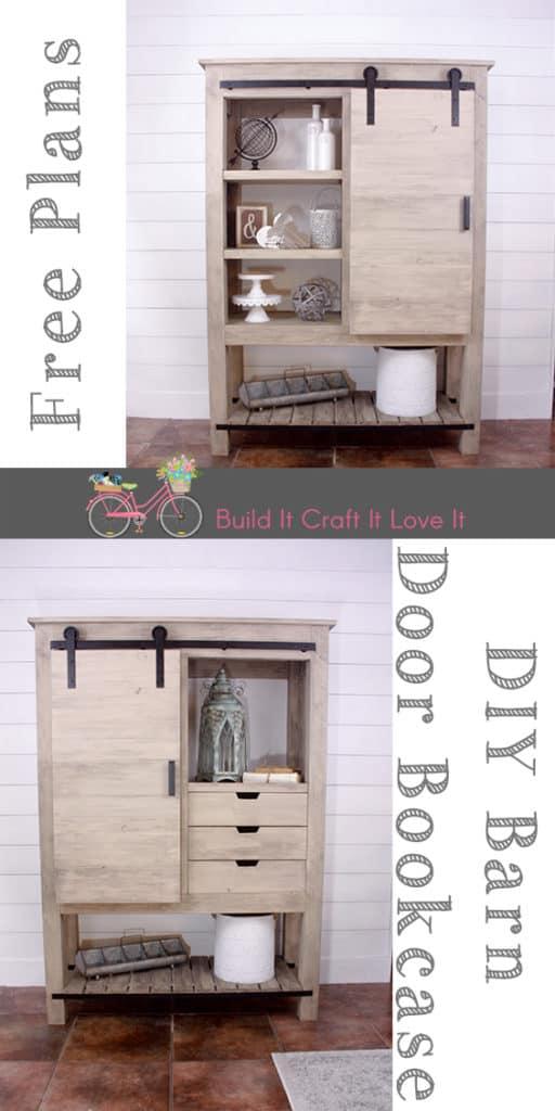Barn Door Bookcase - Arhaus Inspired