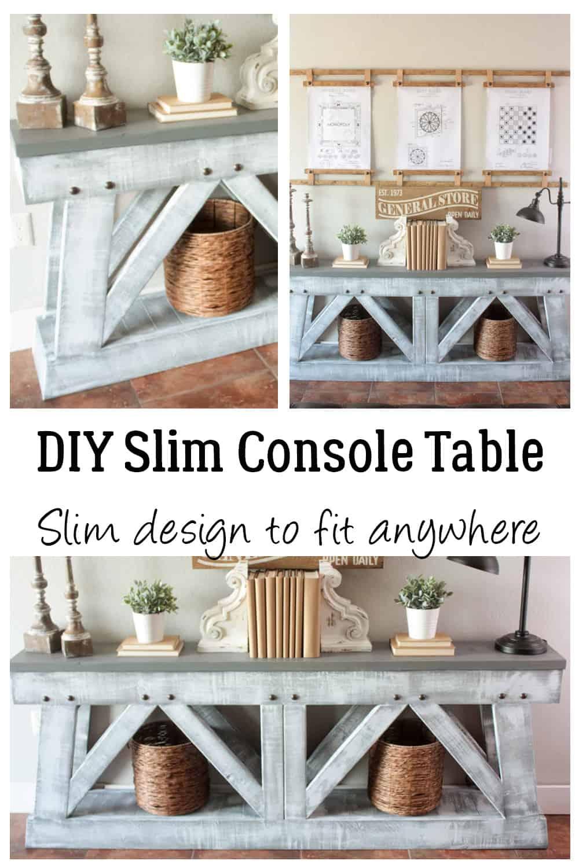 DIY Slim Console Table