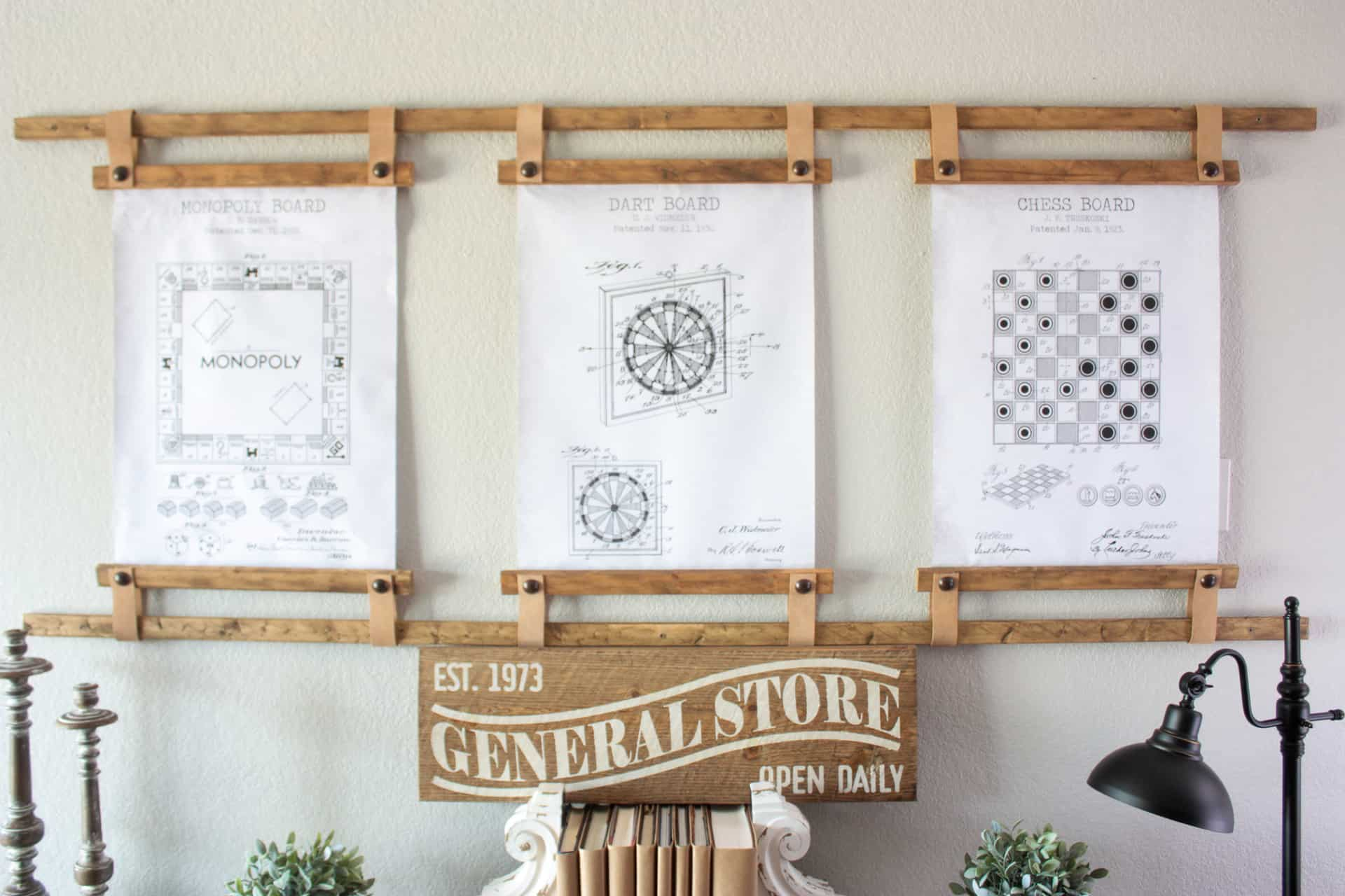 Large DIY Wall Frame IDea for engineering prints