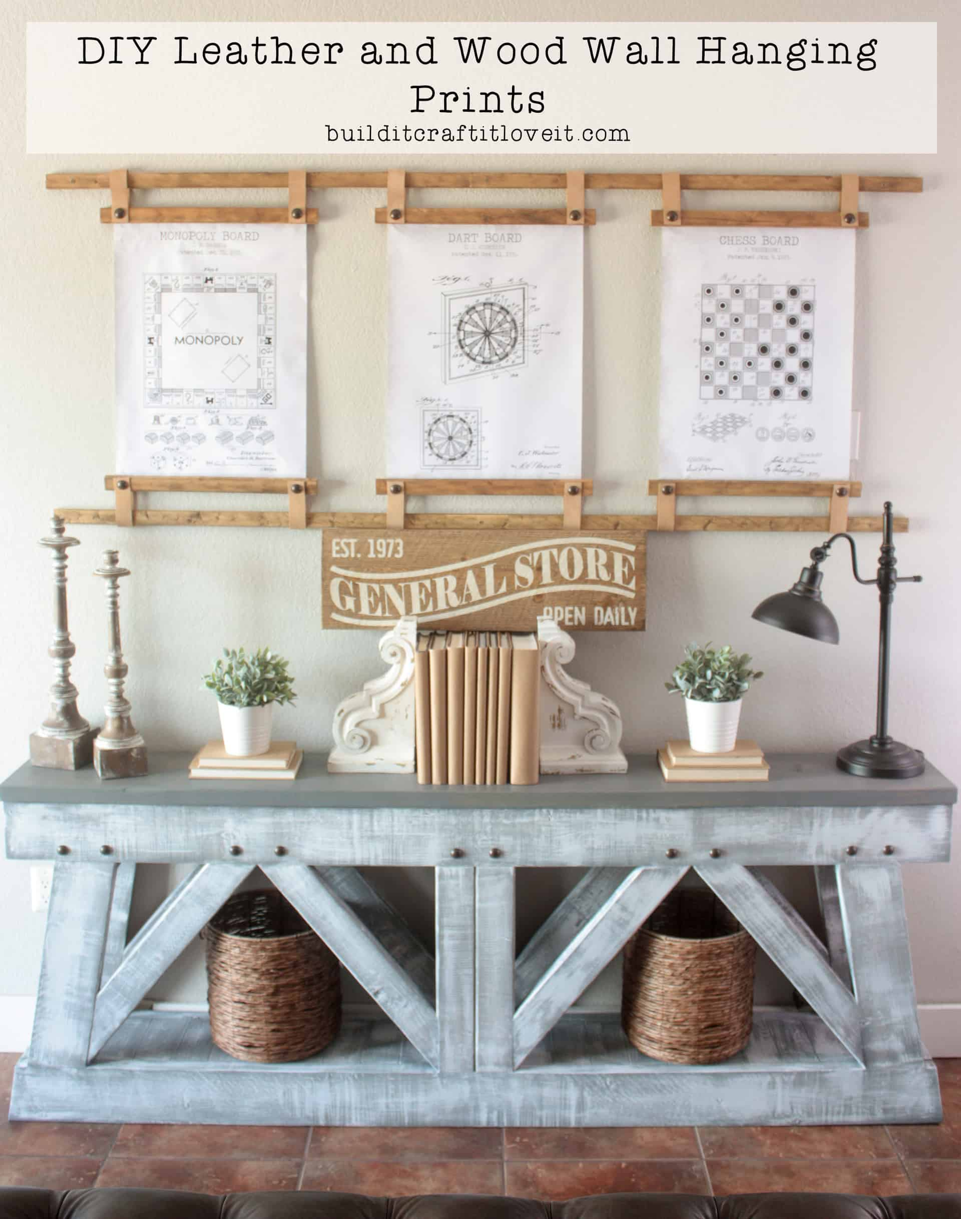 DIY Leather & Wood Wall Hanging Frames