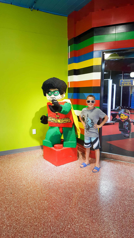 Legoland Florida - Lego Robin sculpture