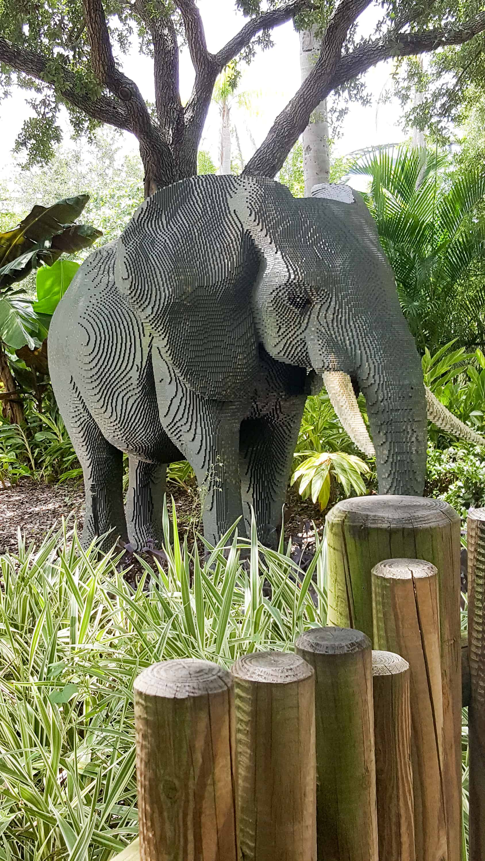 Legoland Florida Vacation - lego sculpture of an elephant