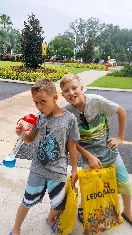 Legoland Florida Vacation - boys shopping