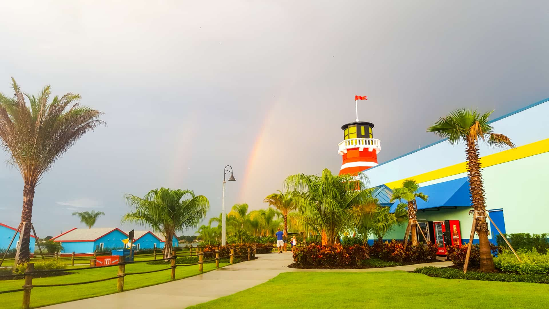Double Rainbow over Legoland Florida beach retreat