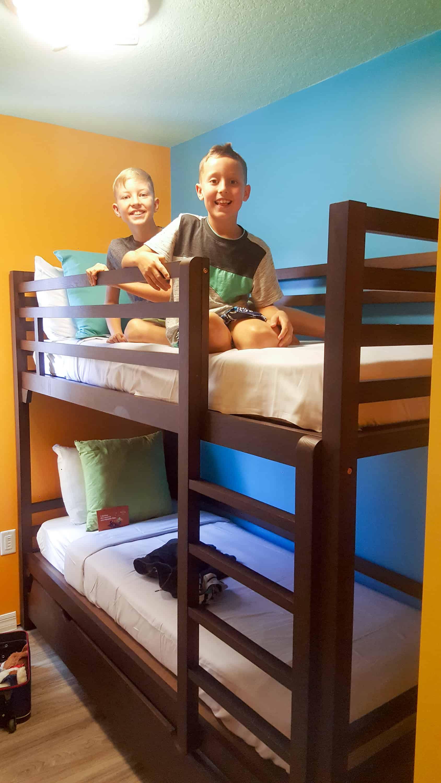 Legoland Florida Beach Retreat bunk beds for kids