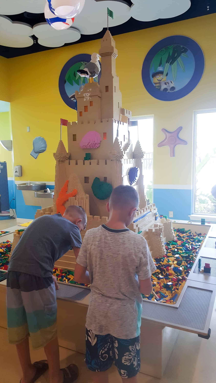 Legoland Florida Beach retreat restaurant legos to play with
