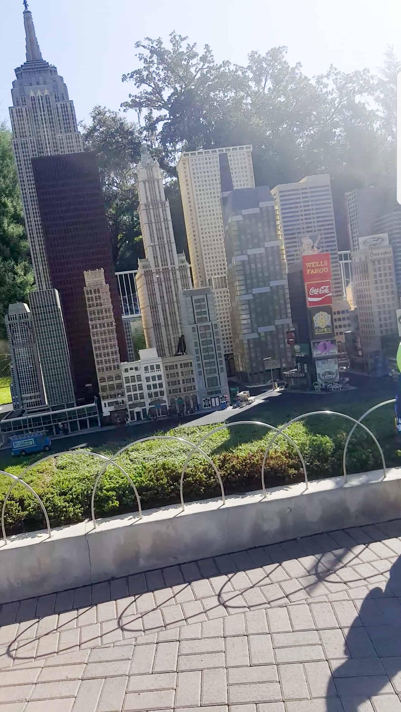Legoland Florida Mini Land lego sculptures of New York City sky scraper