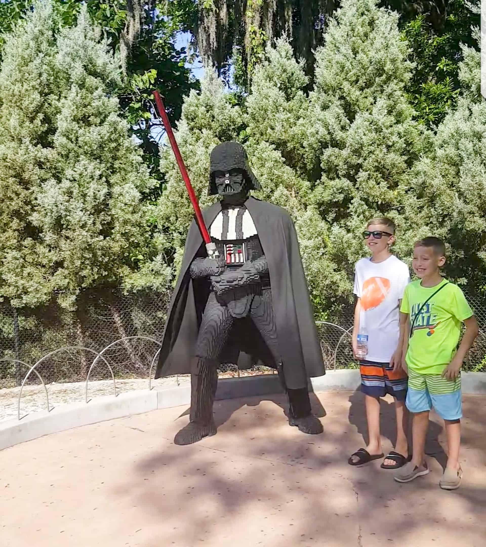 Legoland Florida Star Wars Darth Vader sculpture