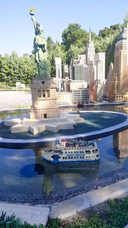 Legoland Florida - statue of liberty lego sculpture