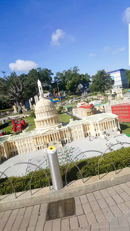 Legoland Florida US capital lego sculpture in mini land