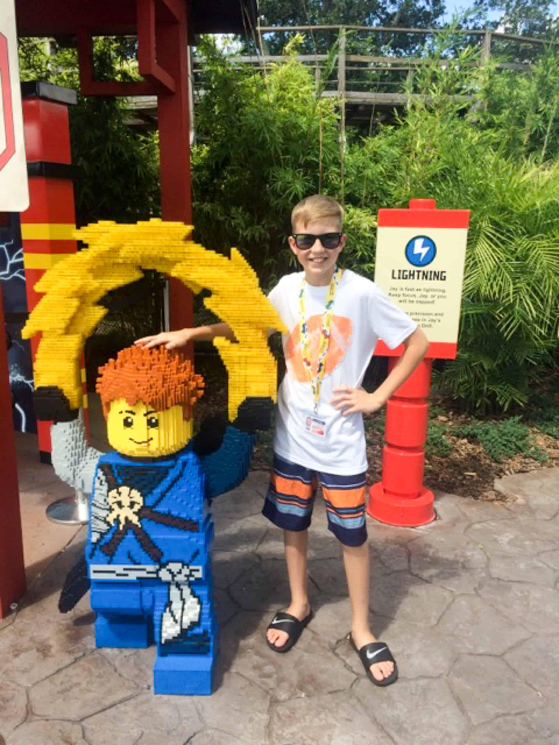Legoland Florida Ninjago Jay lego sculpture