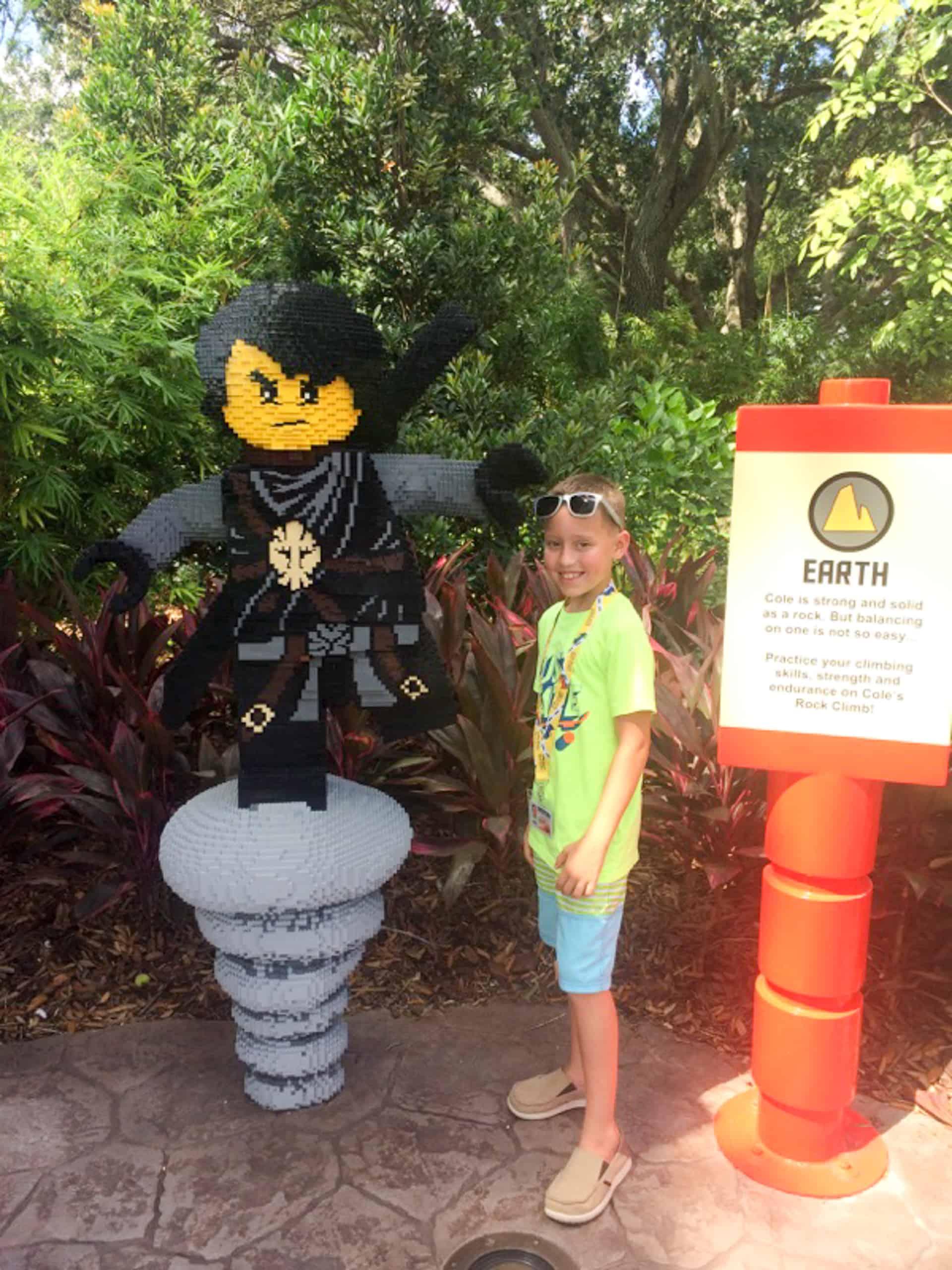 Legoland Florida Cole lego sculpture