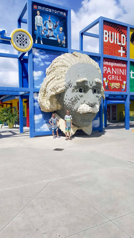 Legoland Florida Vacation - lego sculpture of Albert Einstein