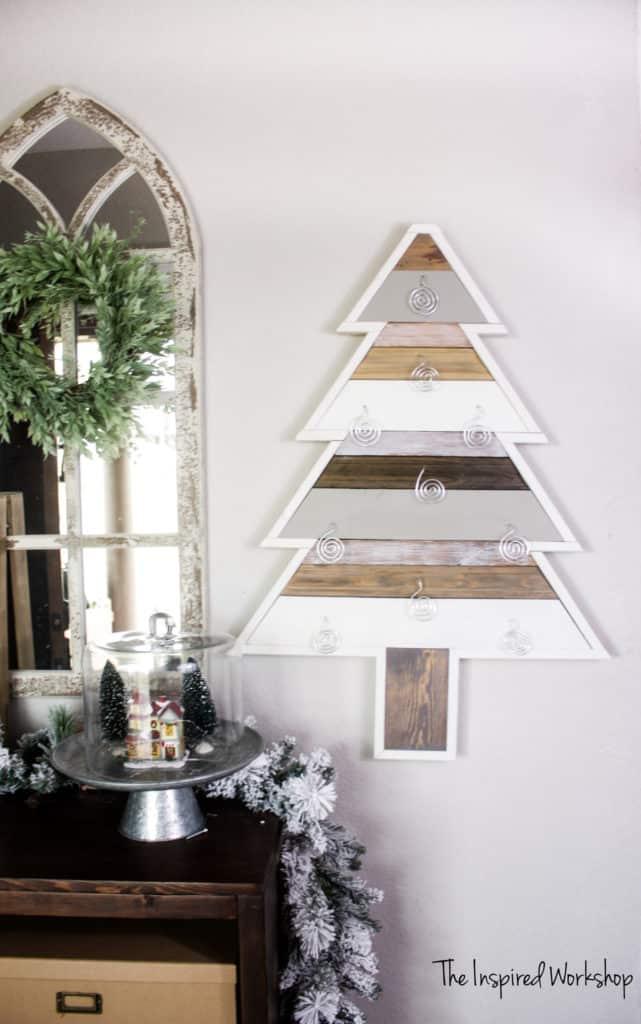 DIY Christmas Tree Card Holder