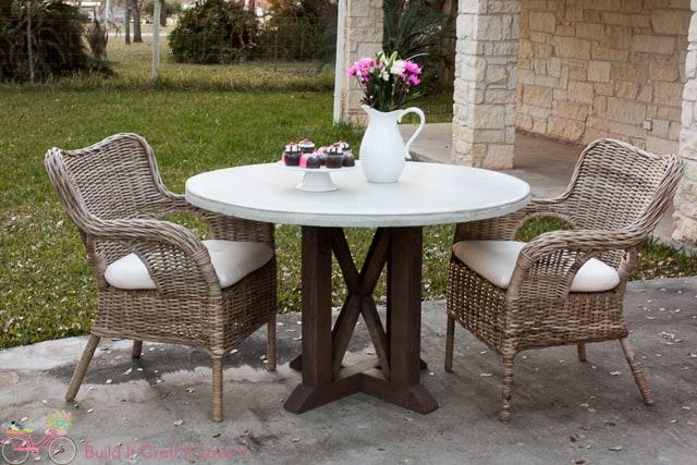 DIY Round Concrete Table Top