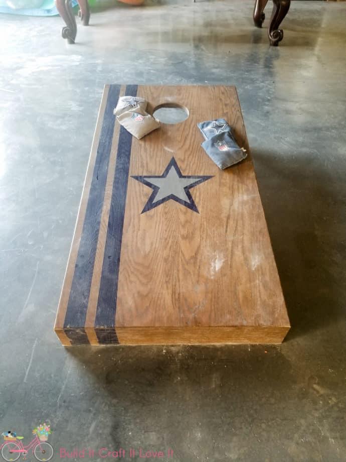 DIY Dallas Cowboys Cornhole Boards
