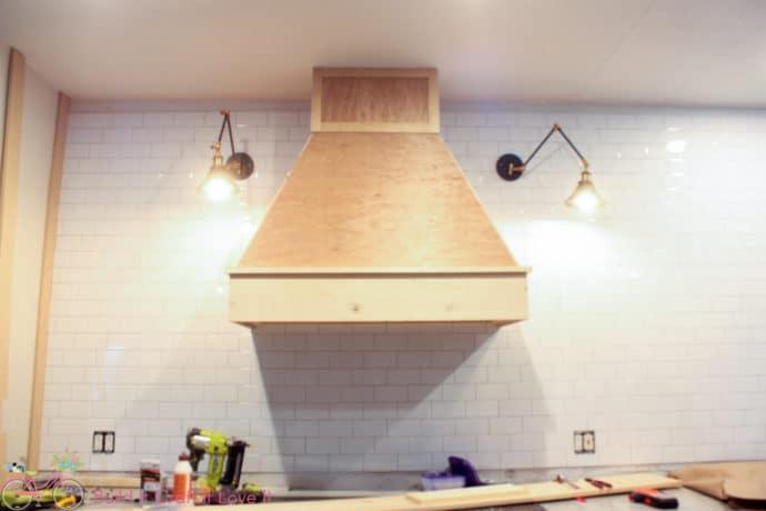 Adding decorative trim to vent hood