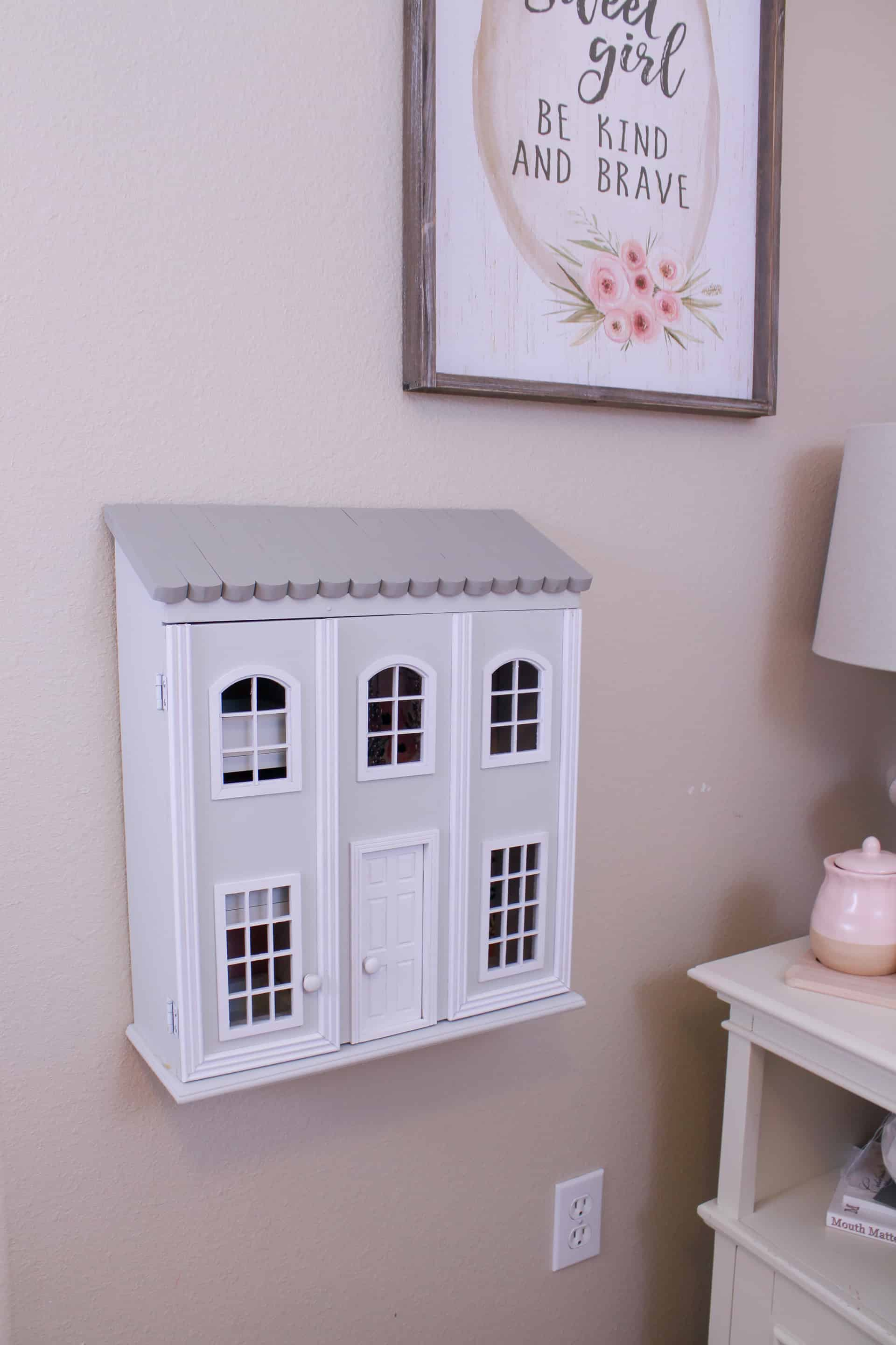 Pottery Barn Kids knockoff dollhouse jewelry cabinet