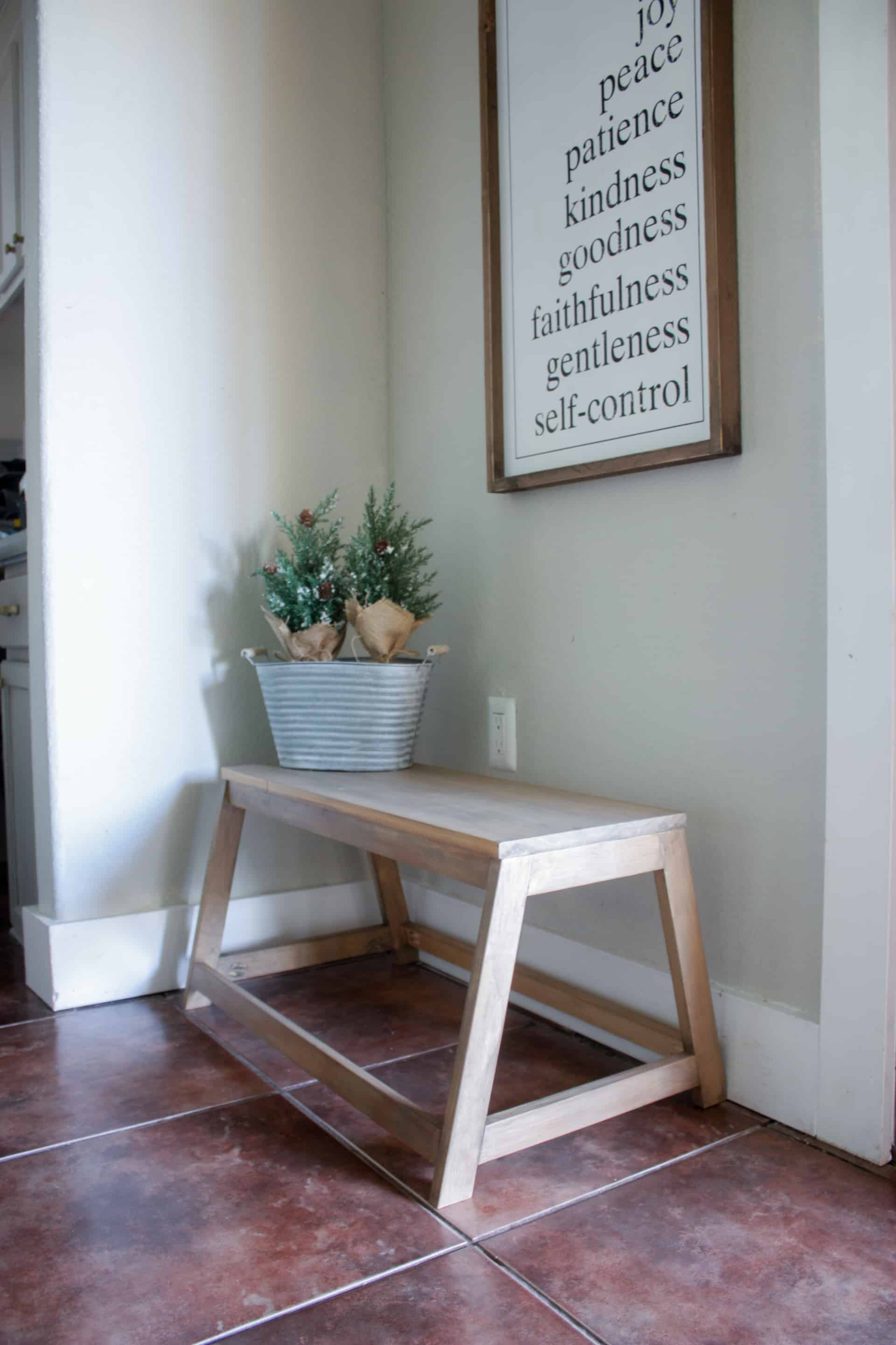 Admirable Diy Small Modern Bench The Inspired Workshop Inzonedesignstudio Interior Chair Design Inzonedesignstudiocom