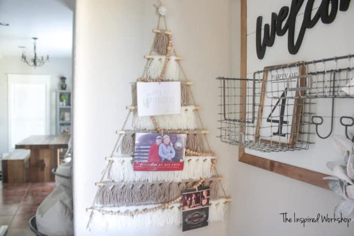 DIY Tassel Tree Card Holder