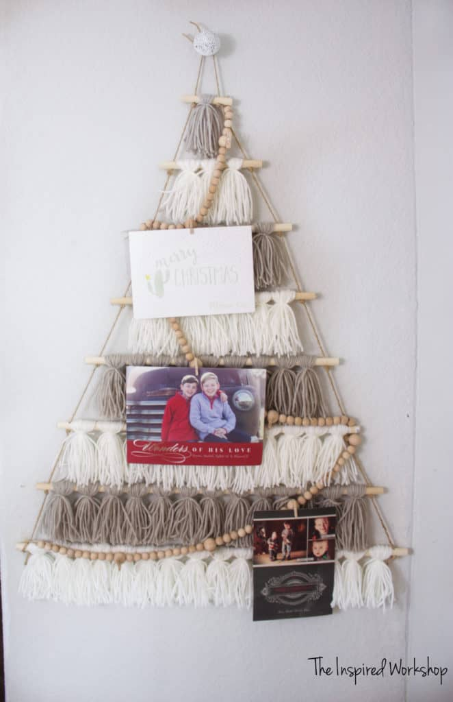 DIY Tassel Tree Card Holder