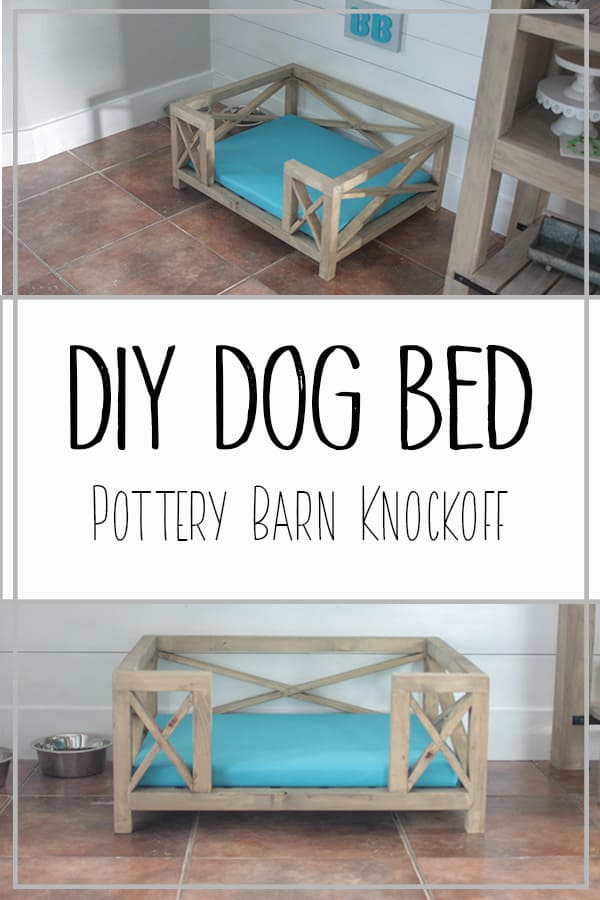 DIY Dog Bed - Pottery Barn Knockoff