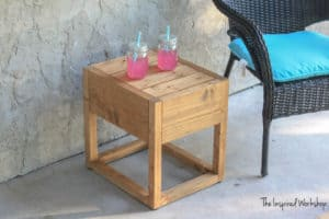 DIY Modern Outdoor Side Table