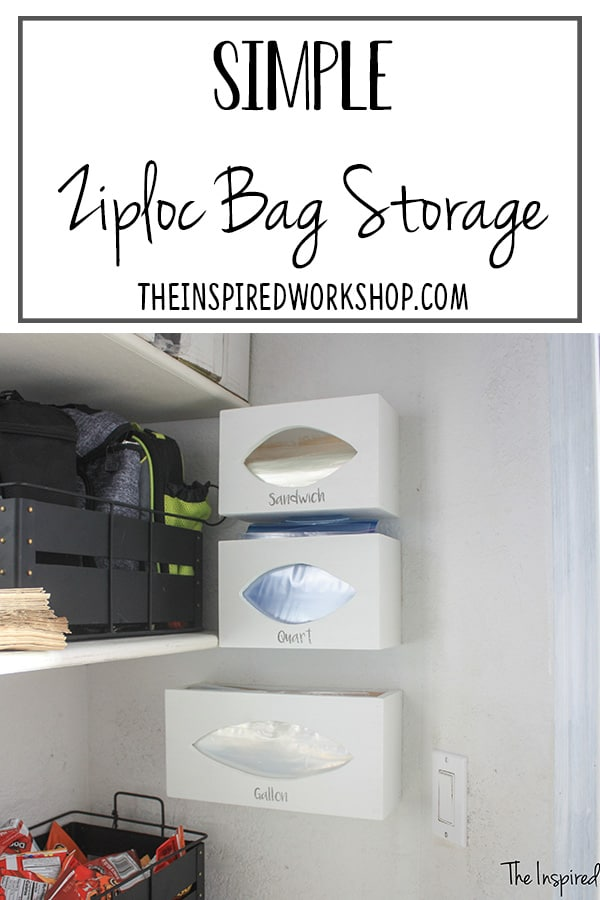 DIY Zipoc Bag Storage Organizer