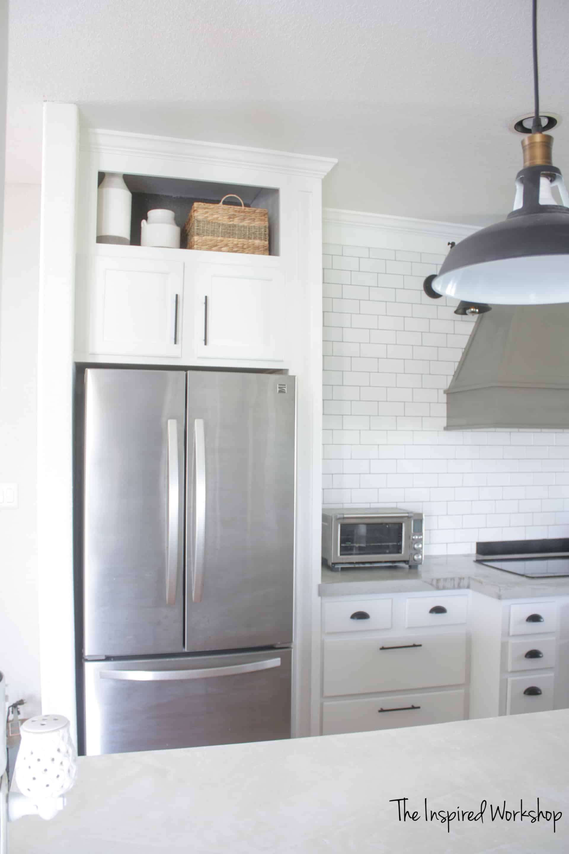 Building a cabinet Above the Fridge - kitchen renovation